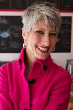 ... 50, 60, 70 on Pinterest | Gray hair, Grey hair and Short hair styles