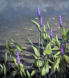 Pickerel Weed, original oil on canvas by Lewis Bryden | R. Michelson Galleries