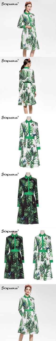 2018 Spring High Quality White / Black Green Leaf Floral Print Butterfly Embroidery Shirt + Skirt Two Piece Set 2 Women