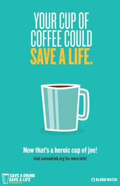 Thinking of saying goodbye to caffeine for the Lenten Season? Let Blood:Water help you turn your favorite cup of joe into life saving water for someone in Africa. To find out how visit saveadrink.org.