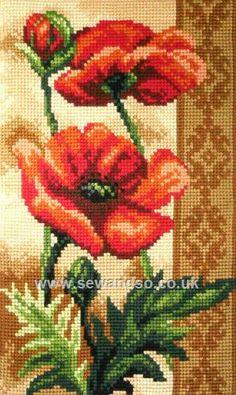 Buy+Poppies+Chunky+Cross+Stitch+Kit+Online+at+www.sewandso.co.uk