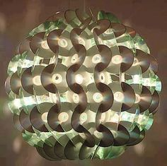 Recycle CD's for a cool lamp.