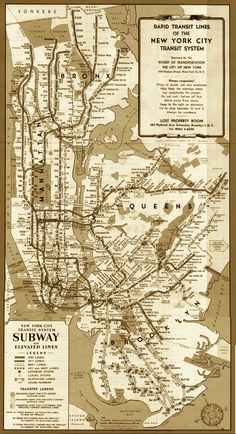 New York City subway map (ca. 1949)
