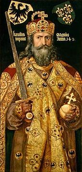 Charlemagne (742-814).  He was not only the first, but possibly the greatest of the emperors from the eighth through the nineteenth century. He restored education, improved law, supported the church, backed Alcuin's attempts to produce an accurate Bible and in many other ways did much that was good. In France, his name was blended with his greatness, and he is known as Charlemagne.