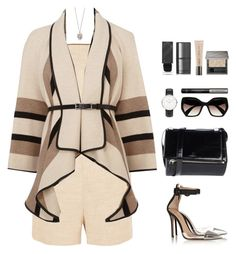 """Mad about the boy"" by touxe ❤ liked on Polyvore featuring Tamara Mellon, Karen Millen, Givenchy, Prada, Alexander McQueen, Daniel Wellington and Burberry"