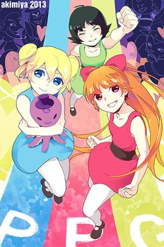 the powerpuff girls, blossom, bubbles, buttercup
