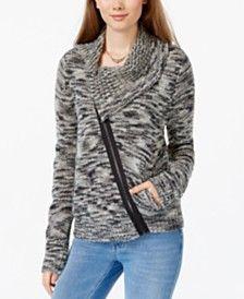 American Rag Juniors' Asymmetrical-Zip Cowl-Neck Jacket, Only at Macy's