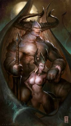 Demon Lord and slave