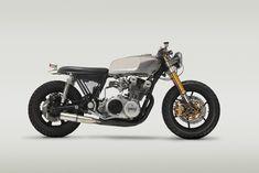 Suzuki Savage Cafe Racer › Honda CB Streamline Silver and Chrome Cafe Racer