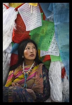 Lhasa, Tibet - prayer flags
