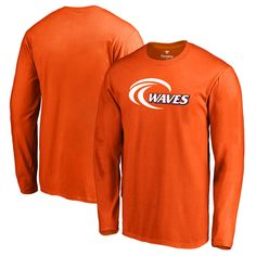 Pepperdine Waves Fanatics Branded Primary Logo Long Sleeve T-Shirt - Orange 16ef84a70