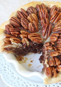 Salted caramel chocolate pecan pie.