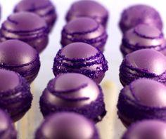 Purple wedding truffles