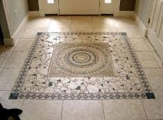 prefab travertine medallion floor designs - Google Search