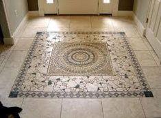 prefab travertine medallion floor designs - Google Search