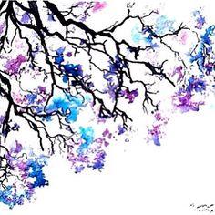 alternative, art, peintres, alambiqué, oeuvre artistique, folie, joliment, noir et blanc, sensa, créativité, dessiné, dessin, dessins, fleurs, grunge, hippie, hipster, illustration, nature, rose, agréable, violet, esquisse, temps d'été, arbre, aquarelle