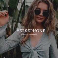 persephone / goddess of spring Greek Gods And Goddesses, Greek And Roman Mythology, Pretty Names, Cool Names, Unique Names, Percy Jackson, Magic Names, Bingo, Aesthetic Names