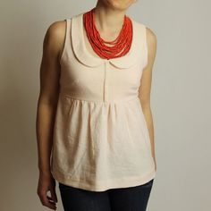 spring top in pale pink linen by madebyrae, washi dress into top. purchase pattern.