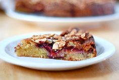 Plum, orange and almond cafe - from river cafe cookbook made easy
