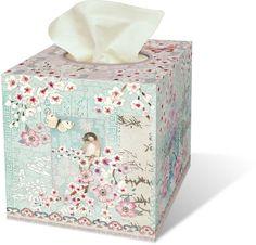 Punch Studio Boudoir Collection Home Tissue Cover - Haiku Blossom 43613 #PunchStudio