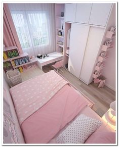 Small apartment bedrooms - 35 wonderful small apartment bedroom design ideas and decor 11 Small Room Design Bedroom, Girl Bedroom Designs, Room Ideas Bedroom, Home Room Design, Bedroom Decor, Bedroom Rustic, Decor Room, White Bedroom, Bedroom Furniture