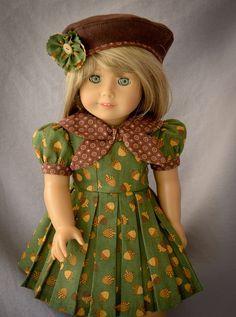 American Girl Dolls : It's Fall Y'all by AnnasGirls on Etsy American Girl Dress, American Doll Clothes, Ag Doll Clothes, Doll Clothes Patterns, Clothing Patterns, Doll Patterns, Girl Inspiration, Girl Dolls, Ag Dolls