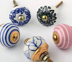 Schubladengriff aus Keramik aus Indien über okversand.com (große Auswahl)