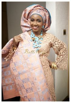 BellaNaija Bride Temiope Photography by Ayodeji Samuel Bride's Makeup & Gele Tying by Shomya Nigerian Wedding Makeup aso oke gele beads naija bride yoruba