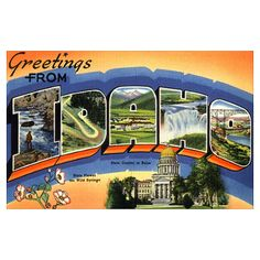 Greetings from Idaho!  [Vintage Idaho postcard]