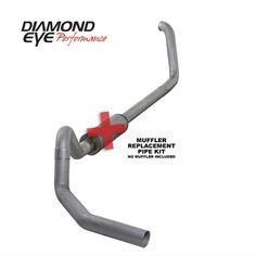 Diamond Eye 4' Turbo-Back Exhaust Ford Cab/Chassis 7.3L 99-03 Diesel No Muffler