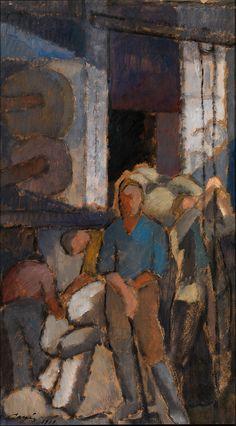 Alvar Cawén:  At the factory (1919)