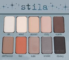 stilla matte eyeshadow....I plan on getting this for Christmas!