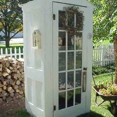 Shed made out of old doors