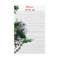 Christmas To Do List Template Stationery Design for you at www.zazzle.com/superdumb #zazzle #christmas #xmas