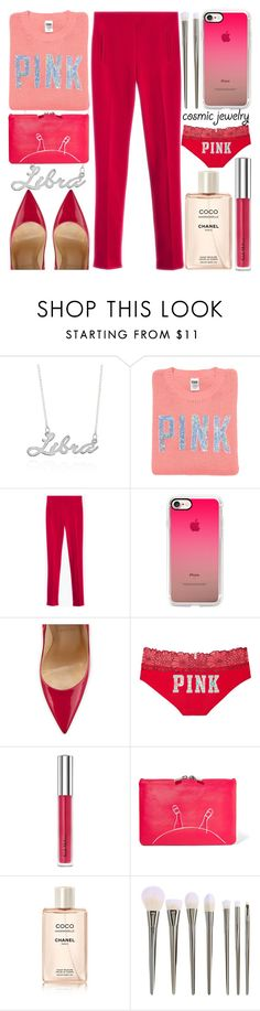 """What`s Your Sign:Cosmic Yewelry"" by grozdana-v ❤ liked on Polyvore featuring Belk & Co., Victoria's Secret PINK, Casetify, Christian Louboutin, Victoria's Secret, Trish McEvoy, Marc by Marc Jacobs, Chanel and cosmicjewelry"
