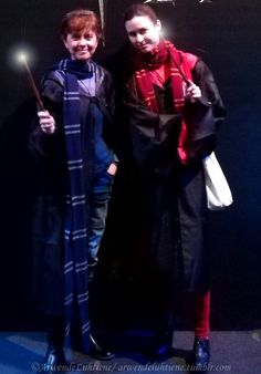 Gryffindor student cosplay at Harry Potter: The Exhibition