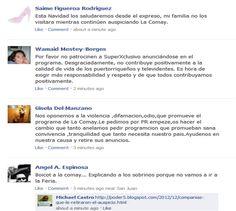 Mensaje publicados en La Feria