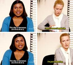 """When she made Angela preemptively take aspirin.   16 Times Kelly Kapoor Was The Funniest Character On """"The Office"""""""
