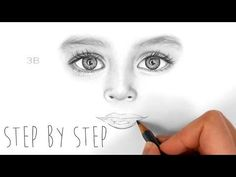 How to draw shade realistic eyes, nose and lips of a child by Emmy Kalia - Drawing Technique