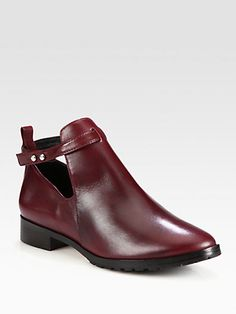 Elizabeth and James - Pine Leather Ankle Boots