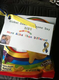 Handouts for World Down Syndrome Day - such a great idea!