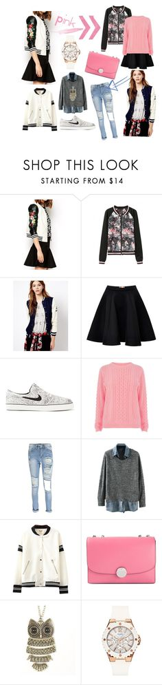 """""""Untitled #6"""" by ltt-thuthuyly ❤ liked on Polyvore featuring Pull&Bear, MSGM, NIKE, Warehouse, Boohoo, Chicnova Fashion, Marc Jacobs and GUESS"""