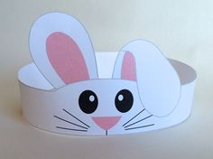 Bunny Paper Crown Printable by PutACrownOnIt on Etsy - Páscoa Mais Easter Crafts For Toddlers, Easter Art, Bunny Crafts, Easter Crafts For Kids, Toddler Crafts, Preschool Crafts, Kids Diy, Crown Printable, Crown Crafts