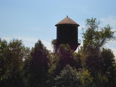 Water tower on Belmead property