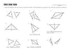 Worksheet Congruent Triangles Worksheet triangles and worksheets on pinterest congruent activity worksheet mrmillermath