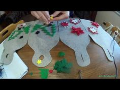 YouTube Felt Christmas Ornaments, Christmas Stockings, Felt Gifts, Felt Art, Big Shot, New Years Eve Party, Craft Work, Dinosaur Stuffed Animal, Projects To Try