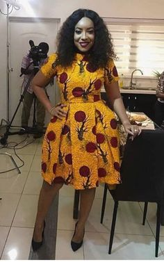 over 30 African yellow dresses 2018 – Reny styles – African Fashion Dresses - African Styles for Ladies Short African Dresses, Ankara Short Gown Styles, Latest African Fashion Dresses, Short Gowns, African Print Dresses, African Print Fashion, Ankara Gowns, Moda Afro, Style Africain