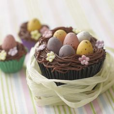 Chocolate Easter nest cupcakes | Cupcakes recipes | Red Online