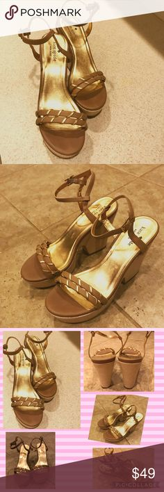 Authentic ♠️ Kate Spade ♠️ Platform Sandals! EUC! Excellent condition brown platform sandals with gold accents.  Slight wear on bottoms. Very comfortable. Pair well with jean shirts and summer dresses. A must have! kate spade Shoes Platforms