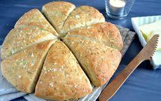 Hurtigt og lækkert madbrød… Bread Recipes, Baking Recipes, Home Bakery, Bread Bun, Dough Recipe, Bread Baking, Tapas, Brunch, Food Porn